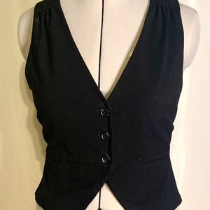 Black business casual vest with lace back